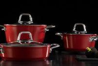Jumbo Roca'dan mutfaklara ateş kırmızısı setler