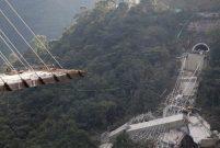 Kolombiya'daki dev köprü Chirajara koptu