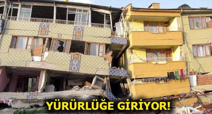 Yeni Bina Deprem Yönetmeliği Resmi Gazete'de yayımlandı