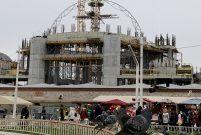Taksim Camisi'nin kubbesi yükseliyor