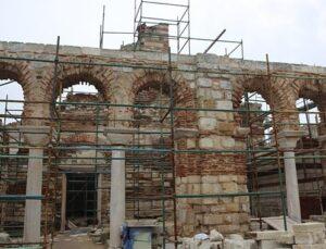 Edirne Enez Fatih Camisi'nin restorasyonu devam ediyor