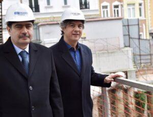 İstanbul Valisi Şahin, Beyoğlu'ndaki projeleri inceledi