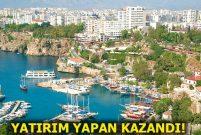 Antalya konut fiyatlarında Türkiye'yi 3'e katladı