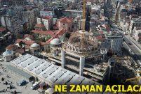 Taksim Camii'nde kaba inşaatın yüzde 80'i tamamlandı