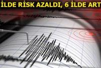 Türkiye'de deprem riski olan iller değişti