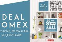 IDEAL HOMEX Ev Eşyaları ve Çeyiz Fuarı 29 Mart'ta açılıyor