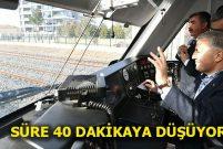 Bakan Arslan, Konya-Karaman hattında test sürüşü yaptı