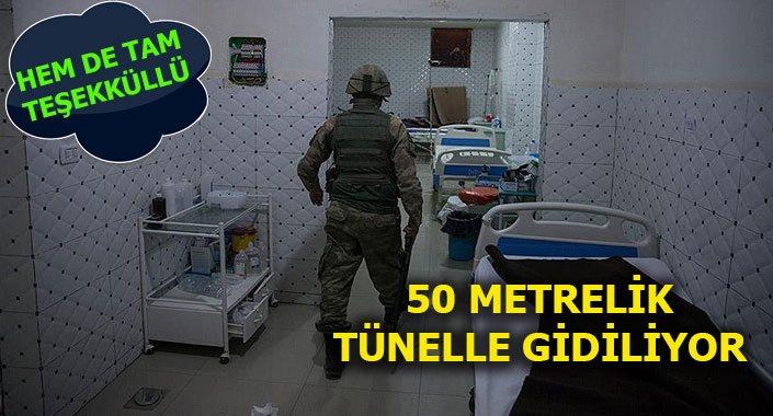Amerika, Afrin'de teröristlere yer altı hastanesi yapmış