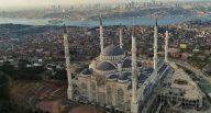 Cumhurbaşkanı Erdoğan'ın mesajı caminin mermerine işlendi