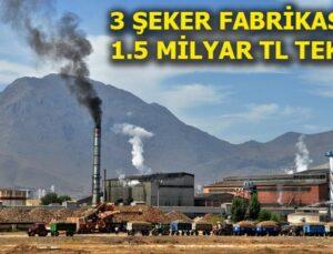 Afyon, Burdur ve Elbistan Şeker Fabrikaları satıldı