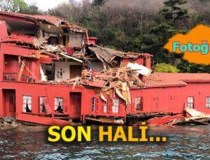 Hekimbaşı Salih Efendi Yalısı'na gemi çarptı parçalandı
