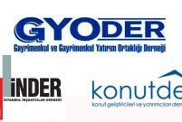 GYODER, İNDER ve KONUTDER'den sektörel teşviklere tam destek