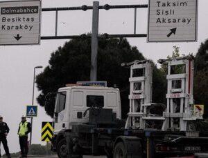 Taksim Meydanı'na çıkan yollar araç trafiğine kapatıldı