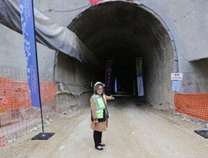 Düzbağ'da tünelin tamamlanmasına son 100 metre kaldı