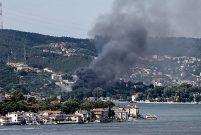 Beykoz'daki eski kundura fabrikasında yangın