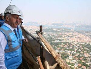 Çamlıca Kulesi'ne yılda 4,5 milyon turist bekleniyor