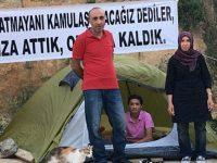 Fikirtepe mağdurları evsiz kalınca şantiyeye çadır kurdu