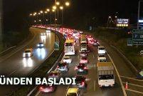 Tatilciler dönüşe geçti, Anadolu Otoyolu çok yoğun