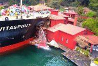 Hekimbaşı Salih Efendi Yalısı'na çarpan gemi Türkiye'den ayrıldı