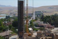 Hasankeyf'teki Sultan Süleyman Camisi'nin minaresi taşınıyor