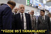 Ulaştırma Bakanı Cahit Turhan 3. havalimanını inceledi