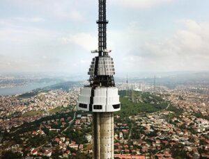 Çamlıca TV-Radyo Kulesi giydirilmeye başlandı