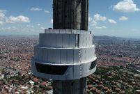 Çamlıca Kulesi'nin restoranı yapıldı