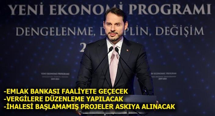 Bakan Albayrak, Yeni Ekonomi Programı'nı açıkladı