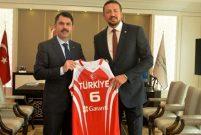 Hidayet Türkoğlu'ndan Bakan Kurum'a ziyaret