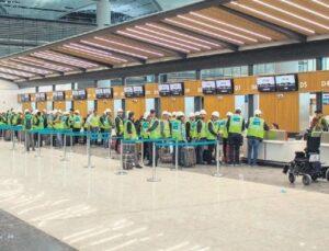 İstanbul Yeni Havalimanı'nda yolcu provası yapıldı