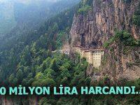 Sümela Manastırı'nda 900 bin ton kaya temizlendi