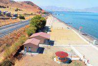 Van Gölü sahiline yeni plaj yapıldı
