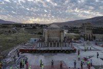 850 tonluk Tarihi İmam Abdullah Zaviyesi yeni yerine taşındı