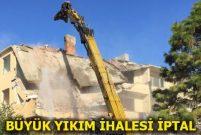 İBB, 381 yapının yıkımı için açtığı ihaleyi iptal etti