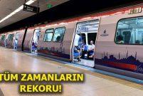 İstanbul Yeni Havalimanı metrosunda rekor kırıldı