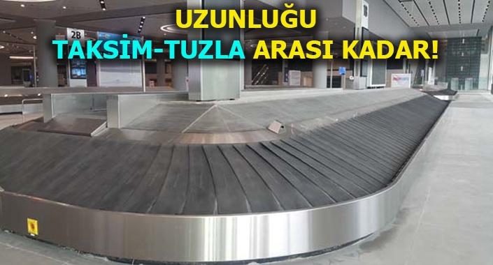 İstanbul Havalimanı'nda dikkat çeken bagaj sistemi