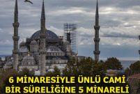 Sultanahmet Camisi'nin minaresi söküldü