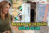 Ebru Türel barakada yaşayan aileyi sıcak yuvasına kavuşturdu