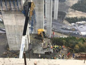Kuzey Marmara Otoyolu çalışmasında beton blok düştü