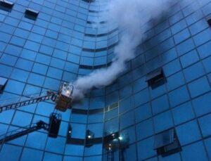 Şişli'de iş merkezinde yangın