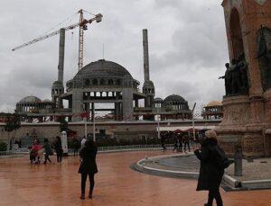 Taksim Camii'nin betonarmesi bitti, ince işçilik başladı