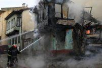 Bursa'da Kayhan Çarşısı'ndaki metruk binada yangın