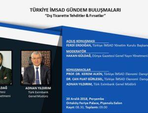 Türkiye İMSAD Gündem Buluşmaları 20 Aralık'ta yapılacak