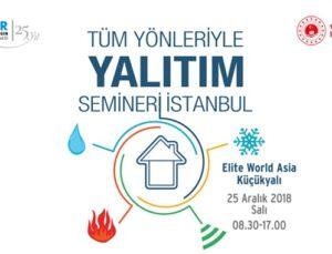 İZODER Yalıtım Seminerleri'nin finali 25 Aralık'ta İstanbul'da