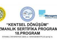 18. Kentsel Dönüşüm Uzmanlık Sertifika Programı 12 Ocak'ta