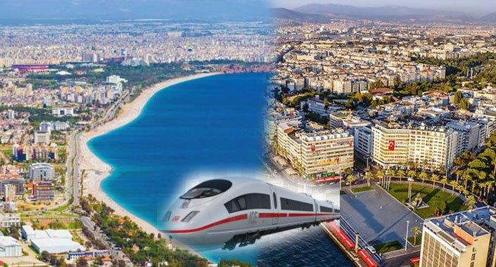 Antalya ve İzmir hızlı tren ile birbirine bağlanacak