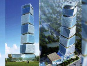 Tekfen Grup Azerbaycan'da 168 metrelik bina yapıyor