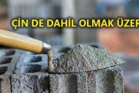 Dünyada çimentonun en ucuza satıldığı ülke Türkiye!