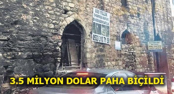 550 yıllık İshak Paşa Hamamı satışa çıkarıldı