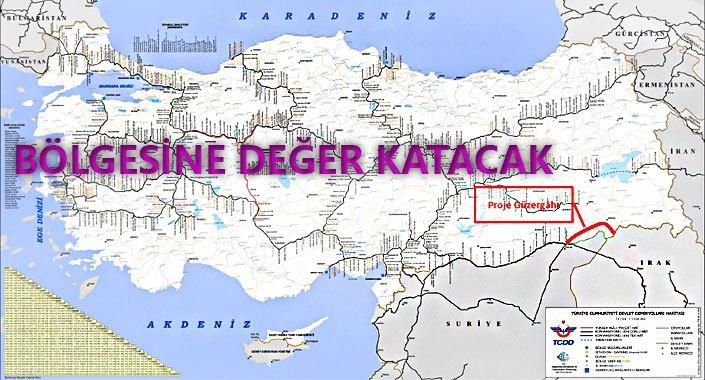 Nusaybin – Cizre – Silopi – Habur Demiryolu yapılıyor